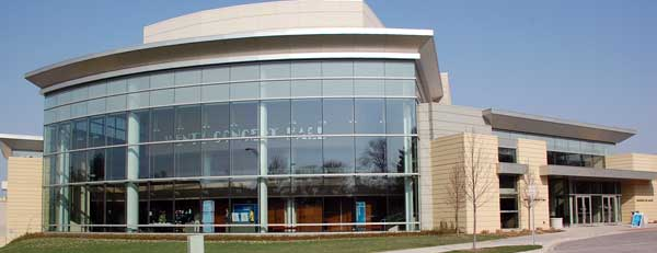 Wentz Concert Hall on the campus of North Central College