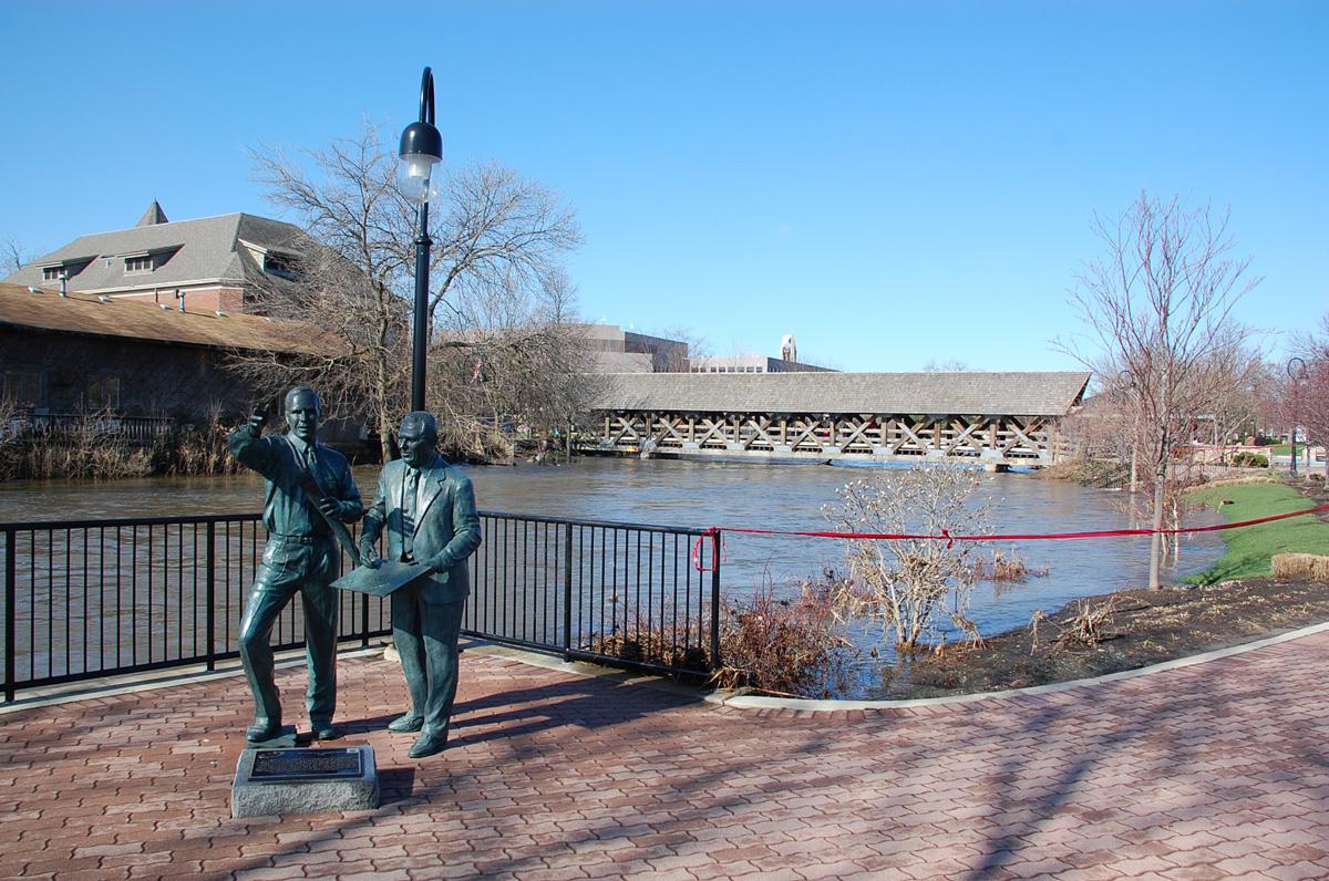 Riverwalk Visionaries planned an enduring brick path along the DuPage River.
