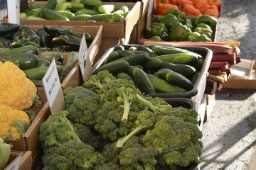 A selection of freshly picked vegetables at the St. John's Farmers' Market.