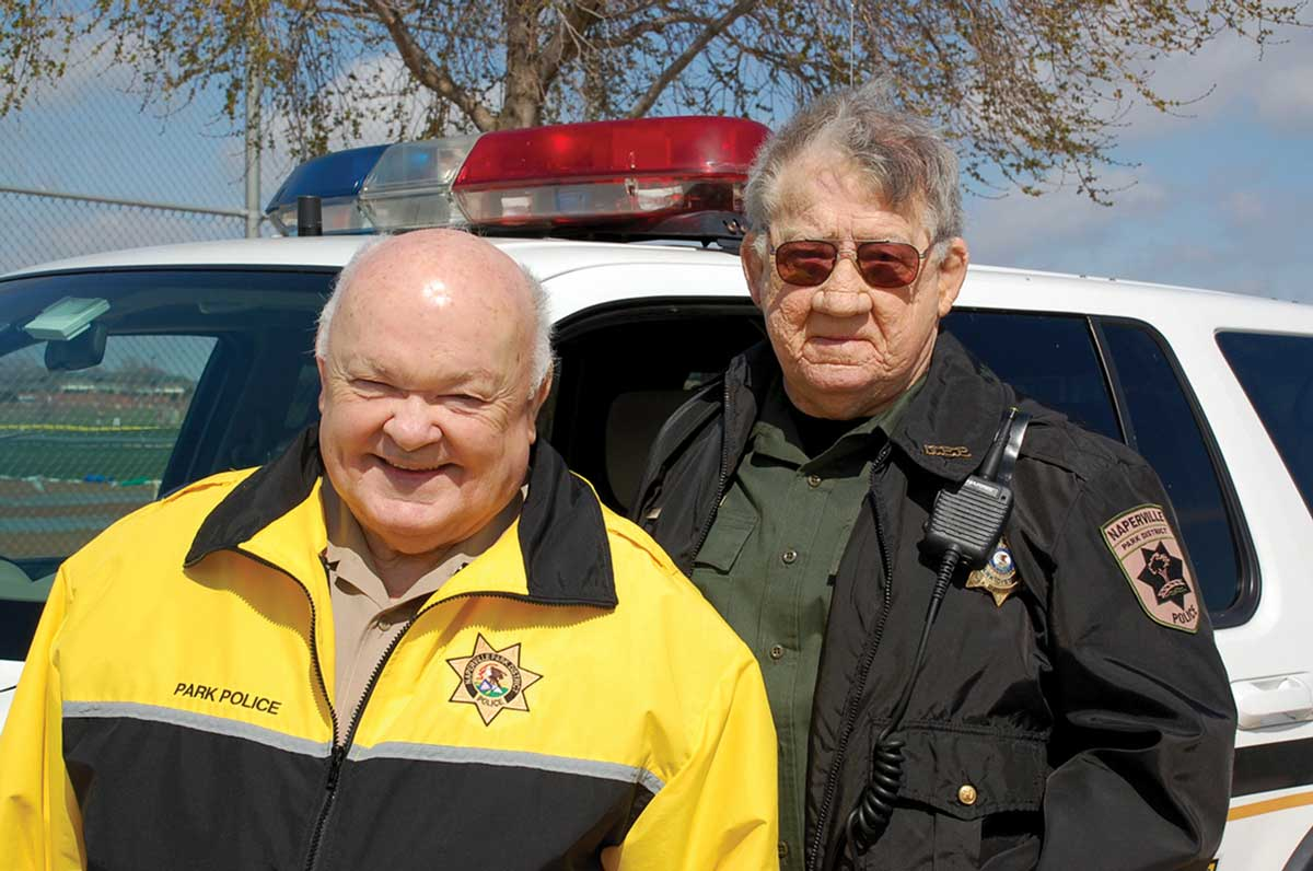 MAYOR GEORGE PRADEL and BILL YOUNG at the 2002 Jaycees Easter Egg Hunt.