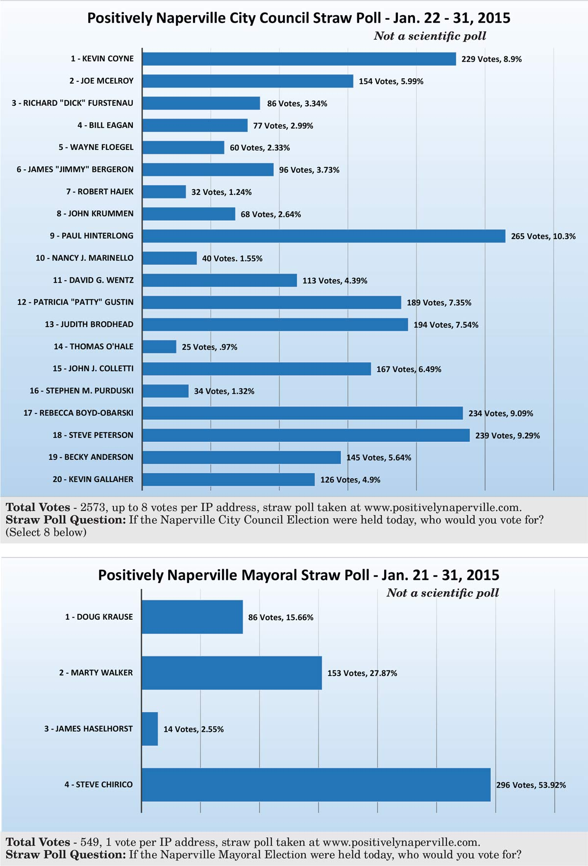 Vote – Positively Naperville January Straw Poll Results