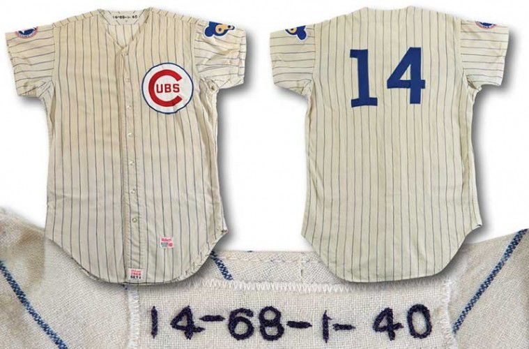 more photos 9544a 713d5 Ernie Banks home team jersey is up for auction – Positively ...