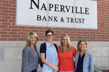 From left, Naperville's First Lady Julie Chirico with Friends for the Charlotte and Gwenyth Gray Foundation's Bianca Morin, Casey McCormick, and Whitney Robbins.