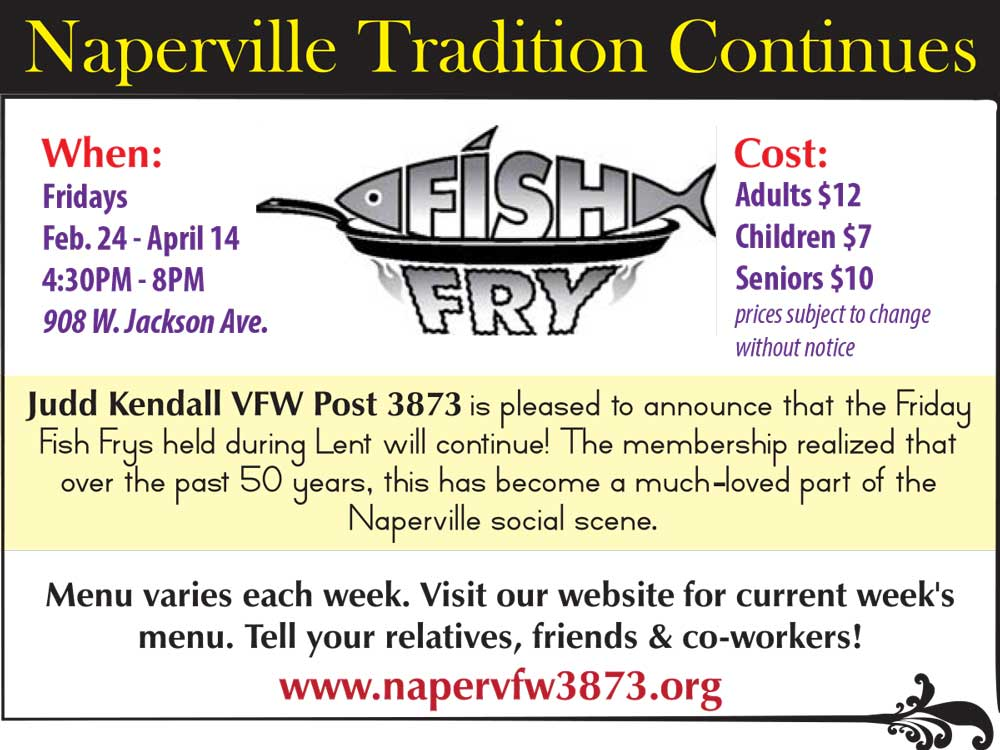 March briefs positively naperville for Friday night fish fry near me