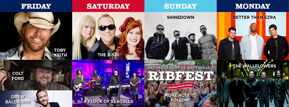 Ribfest Announces Four Day Entertainment Lineup