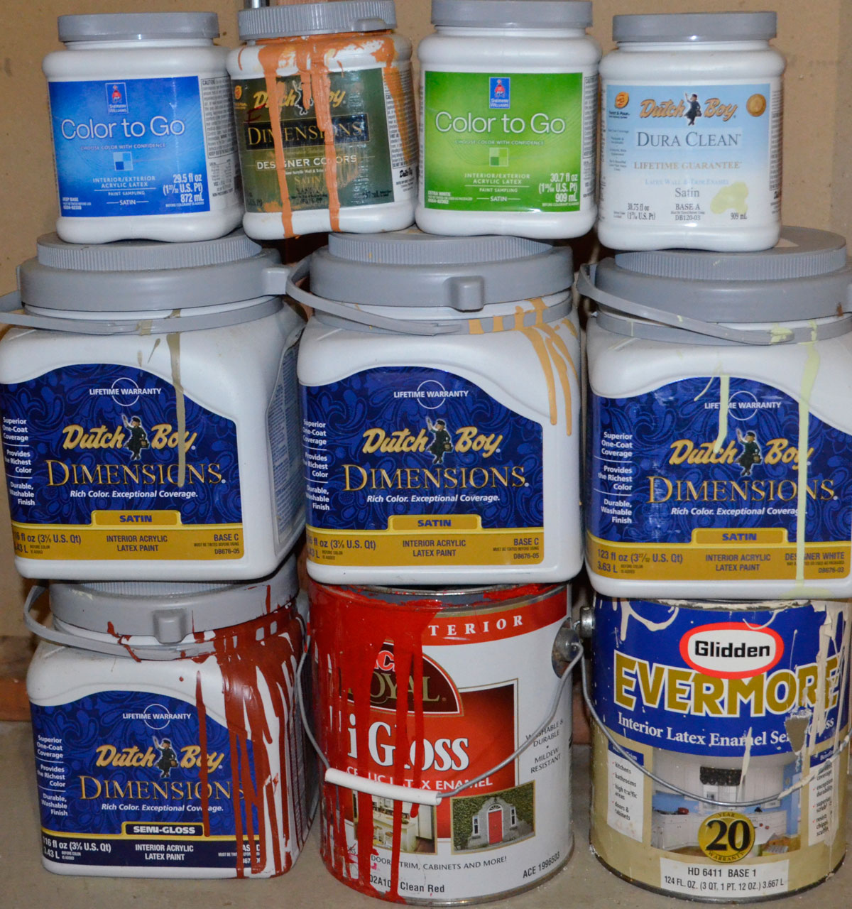 Drop off latex paint to be filtered and reblended during recycling ...