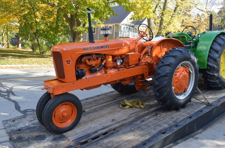 The Allis-Chalmers tractor and plow return to Naper