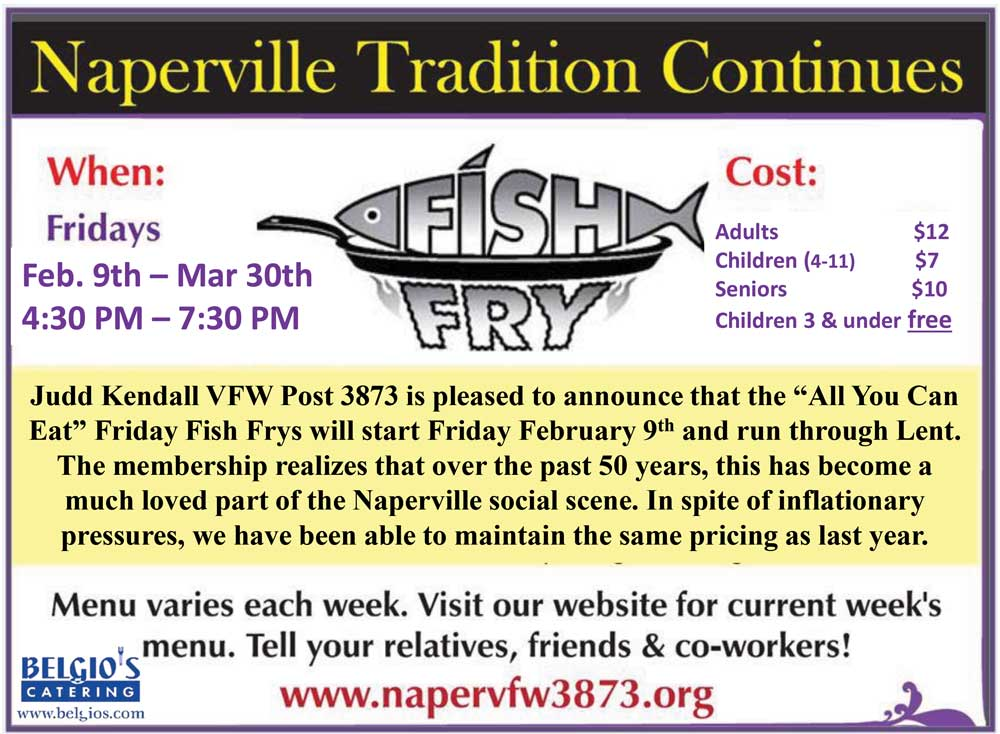 Things to do around naperville this weekend march 2 4 for All you can eat fish and chips near me